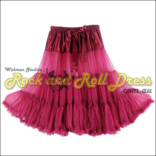 Image of 65cm 1 layer super-soft wine rock and roll petticoat