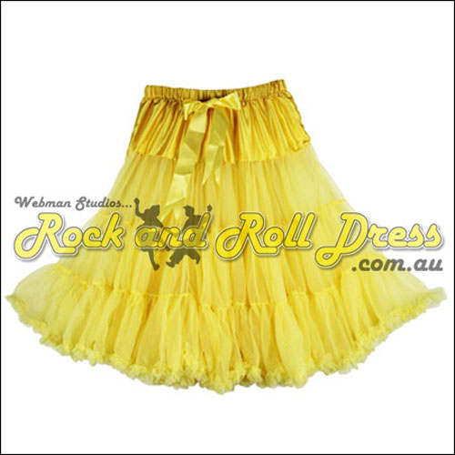 Image of 65cm 1 layer super-soft yellow rock and roll petticoat