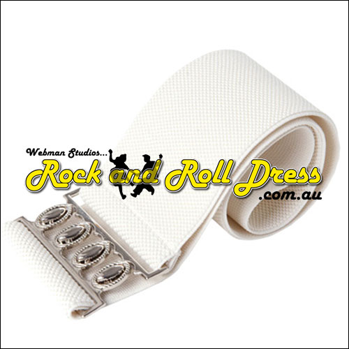 Ivory elastic rock and roll belt 75mm wide L size only