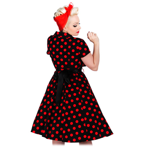Hearts and Roses polka dot dress with bolero in AU sizes 8-18
