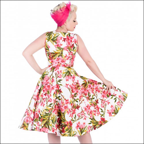 Maureen pink floral rock and roll dress size 18/20