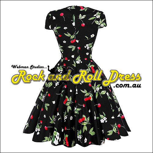 Rhiannon Lee cherry rock and roll dress S-XL