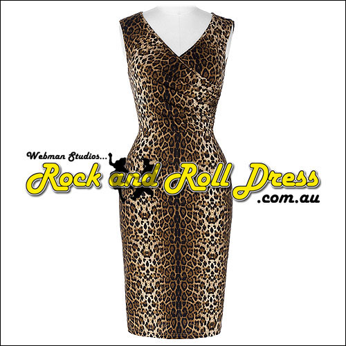 Jungle Jane leopard print rock and roll dress S-XL