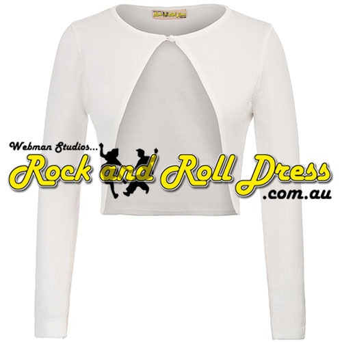 Image of Ivory button-up knitted long sleeve cardigan