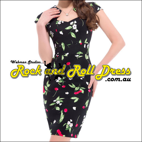 Image of Bridgette cherry rockabilly rock n roll swing dress S-XL