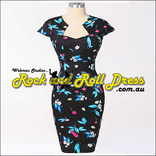 Bridgette cherry rock and roll dress S-XL
