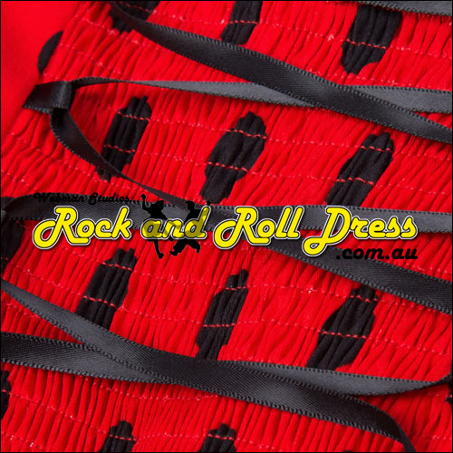 Vivien red black polka dot rock and roll halter dress S-XL