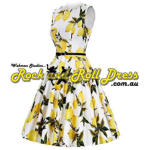 Image of Audrey yellow floral plus size retro vintage dress 1X-4X