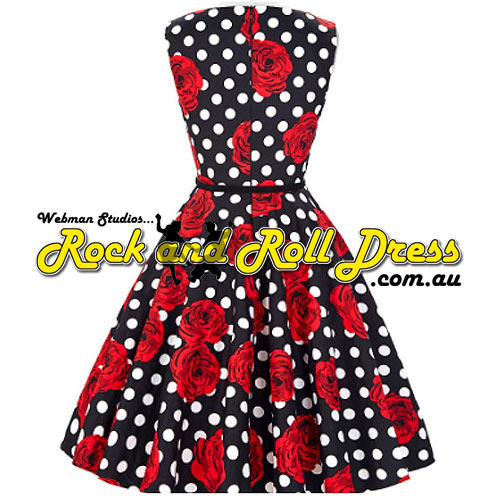 Audrey red rose plus size rock and roll dress 2X-3X