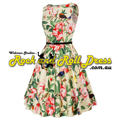 Audrey avion florais rock and roll dress L and XL