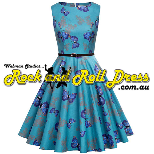 Audrey butterfly rock and roll dress S-XL