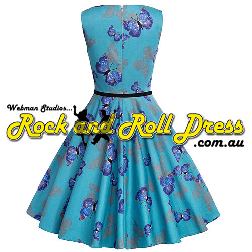 Audrey butterfly rock and roll dress S-XL - Click Image to Close