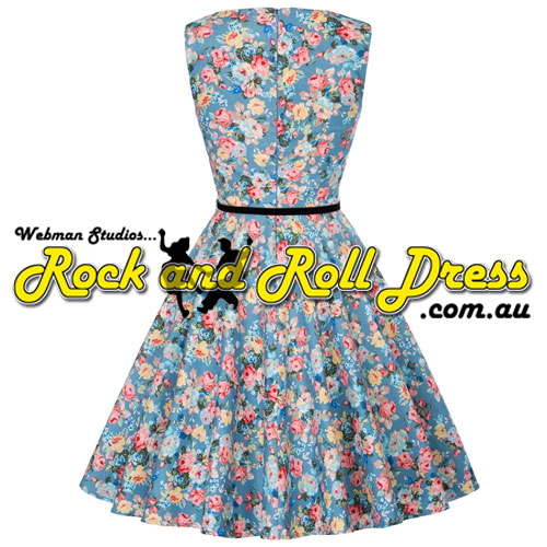 Audrey vintage floral rock and roll dress S-XL