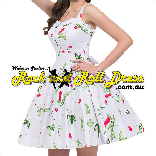 Cherry rock n roll swing dress S-XL