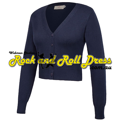 Image of Navy nine point v-neck cardigan S-4XL