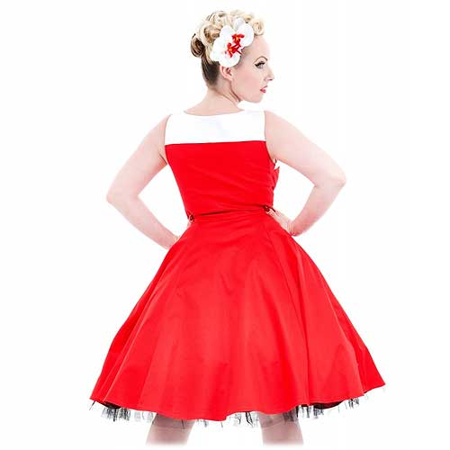 Red white trim diner rock and roll size 8 only