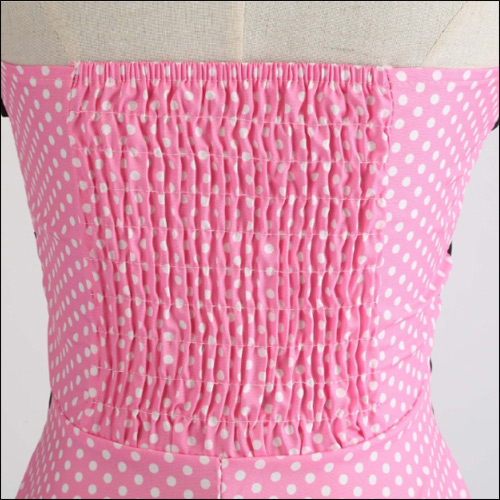 Pink white polka dot rock and roll dress - Click Image to Close