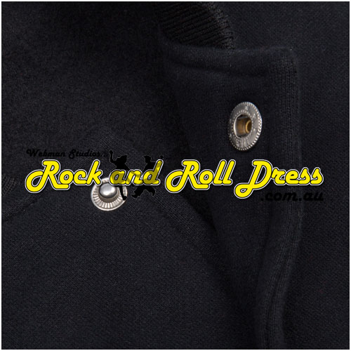 50's rock and roll high school sweater Black/White