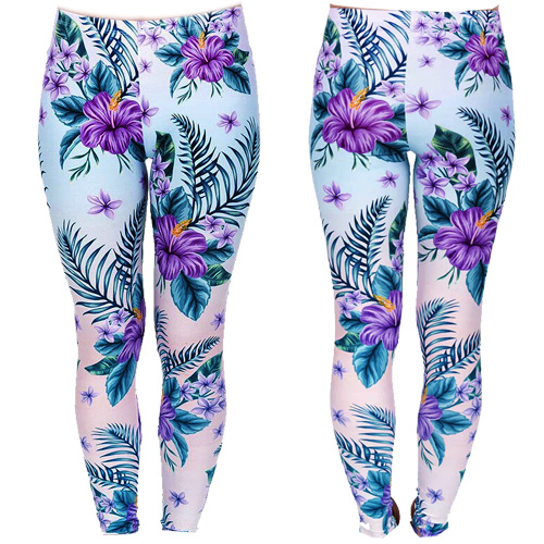 Image of Zahora hibiscus leggings size XS-L