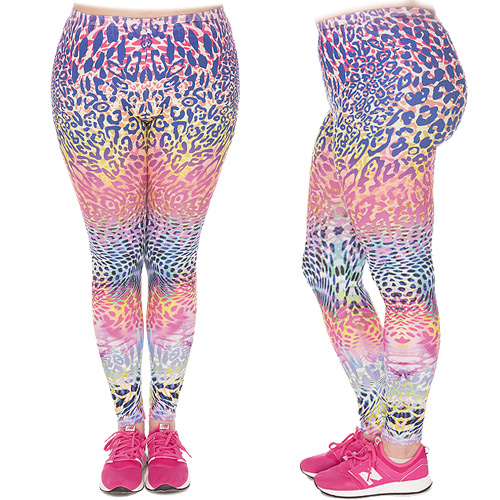 Zahora leopard plus size leggings