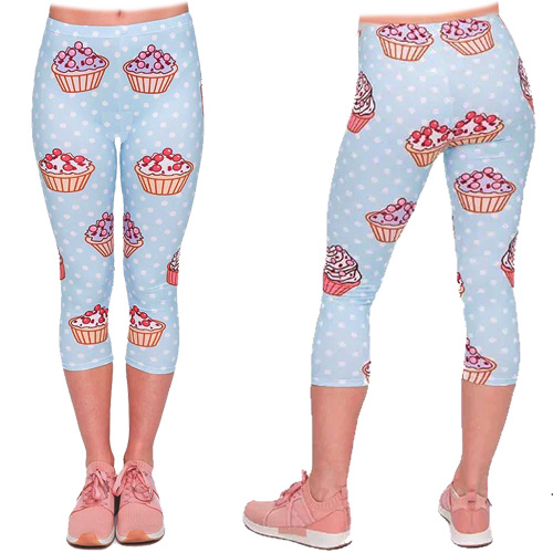 Image of Zahora cupcake 3/4 length capri leggings size XS-L