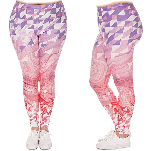 Zahora diamond swirl plus size leggings