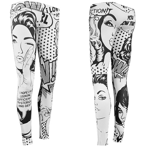 Zahora girl power leggings size XS-L