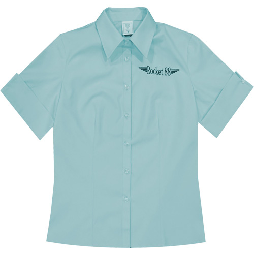 Rocket 88 pastel blue Rosie workshirt S-4XL