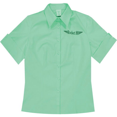 Rocket 88 pastel teal Rosie workshirt S-4XL
