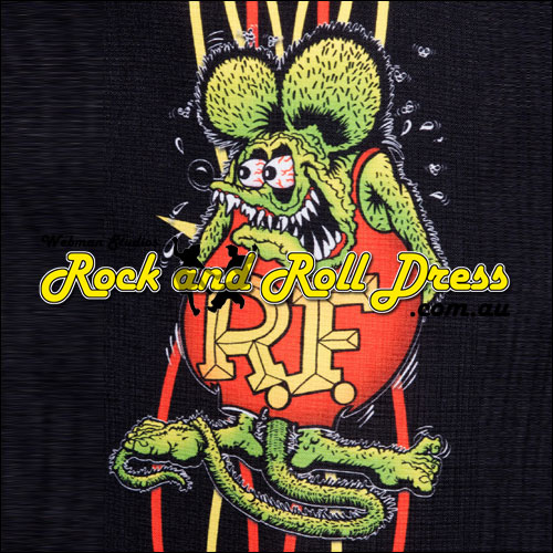 Rat Fink pinstripe panel shirt