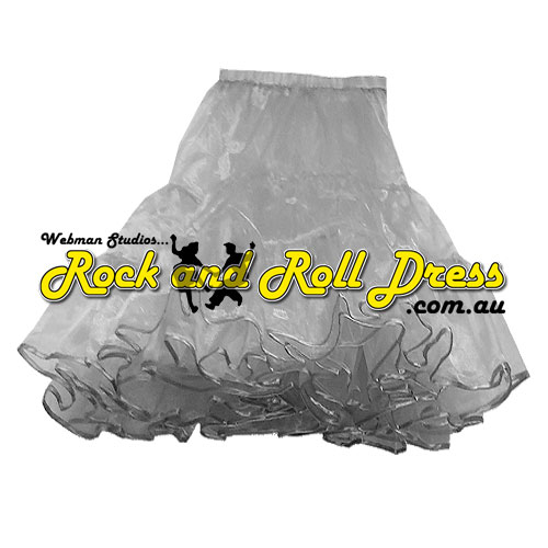 2 layer so-soft silver petticoat 60cm long