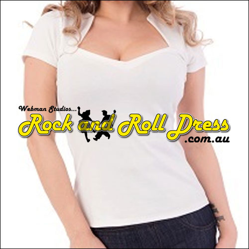 Ivory rock and roll sweetheart top XL-4XL