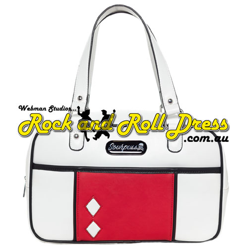 Sourpuss mod block white purse