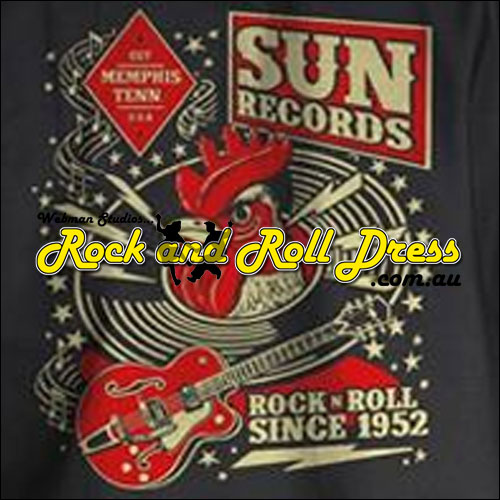 Sun Records Rockabilly rooster garage shirt