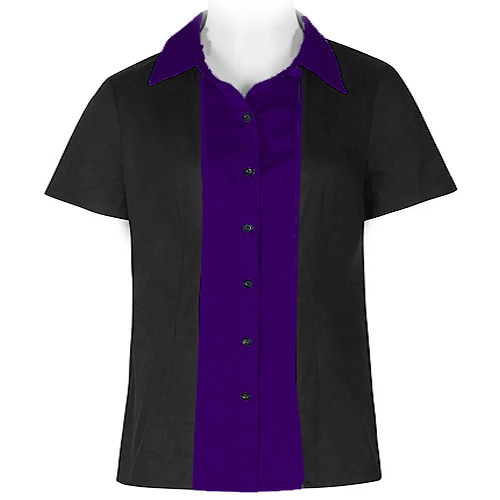 Black and purple ladies rock and roll shirt