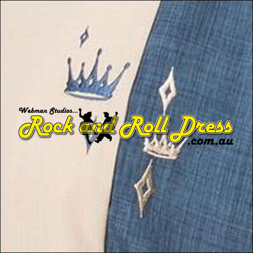 Crown jewel blue rock and roll shirt