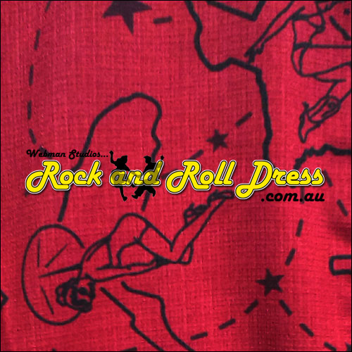 Rock Steady pinup rock and roll shirt