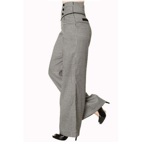 Black high waist ladies swing pants
