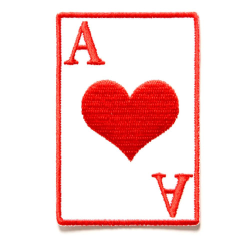Image of Ace of hearts patch