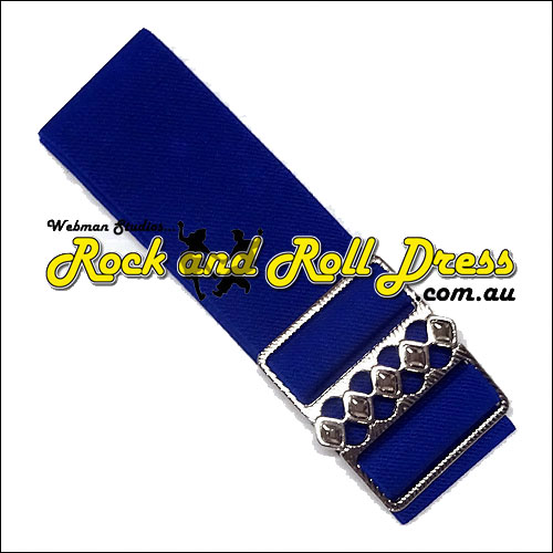 Royal blue elastic rock and roll belt 50mm wide S-XL