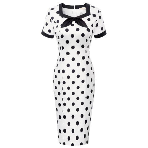 Miss Julie black polka dot rockabilly dress S-XL
