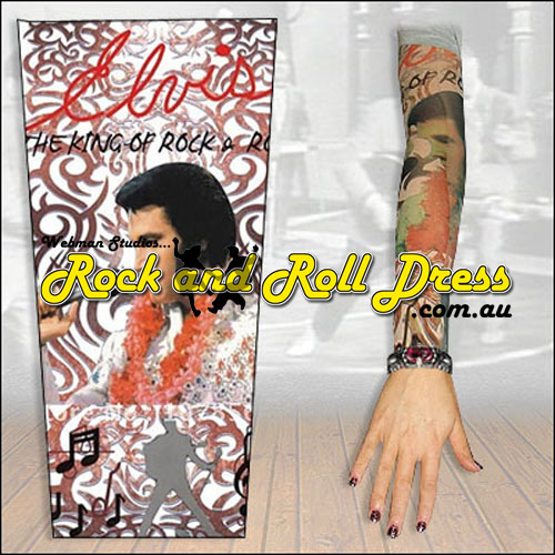 Elvis rock and roll tattoo sleeve