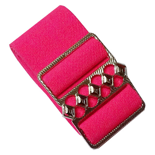 Hot pink elastic cinch belt 50mm wide fits up to 130cm waist
