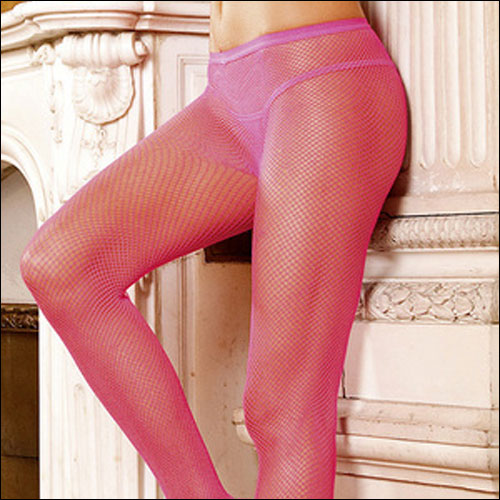Hot pink fishnet rock and roll dance pantyhose