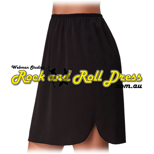 Rock and Roll dress black satin half slip