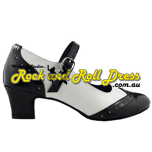 a49235c493cb Ladies black and white rock and roll dance shoes in sizes 4 - 12