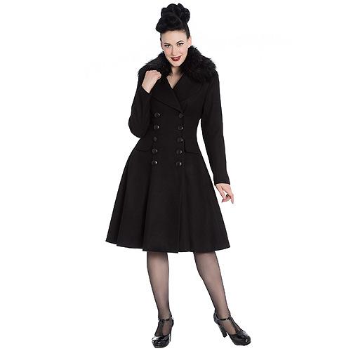 Image of Milan full length button-up black coat
