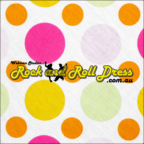 Multi coloured polka dot full circle rock n swing skirt