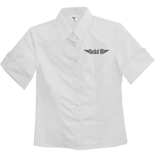 Rocket 88 Old School Pinup ladies workshirt XS-4XL White