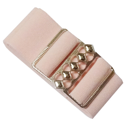 Pink elastic cinch belt 50mm wide fits up to 130cm waist